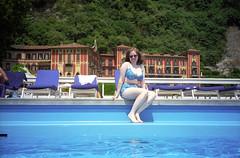 Sue By The Pool At Villa D'Este