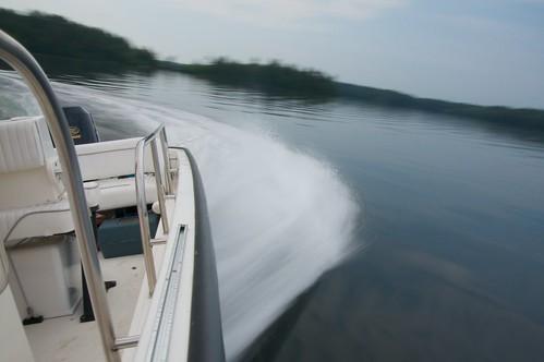 Crisp Boston Whaler Boat Wake