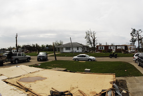 destruction debris iowa ia tornado parkersburg 360view ef5 25may2008