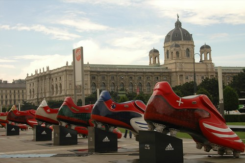 Football Shoes for Euro 2008 - Vienna, Austria