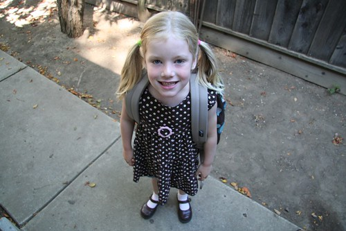 willow's first day of kindergarden
