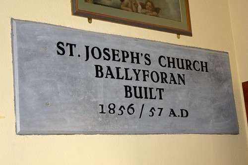 Plaque in Ballyforan Church