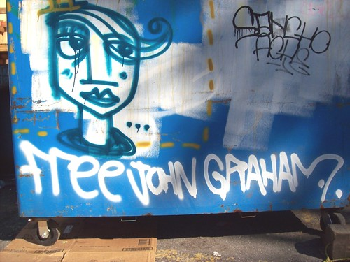 face on a dumpter and free john graham