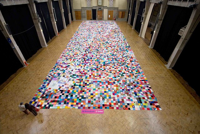 Oxfam Knitting Pattern For Blankets : Oxfams Giant Knitted Petition - Feel Desain