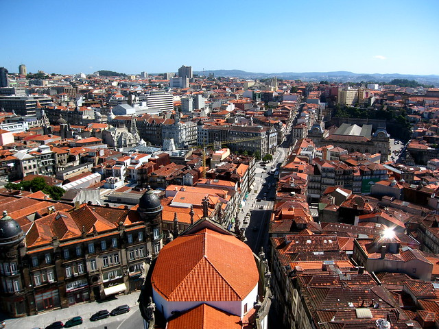 view from Clérigos tower