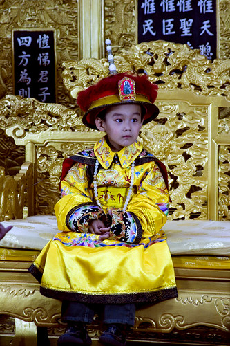 Kid dressing up as Emperor