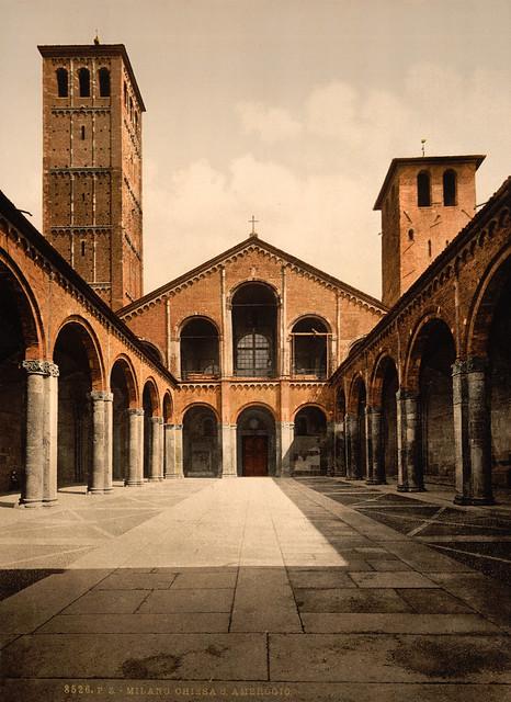 St. Ambrosius Church, Milan, Italy, ca. 1895