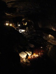 pit cave(0.0), sea cave(0.0), formation(1.0), lava tube(1.0), cave(1.0), caving(1.0), darkness(1.0),