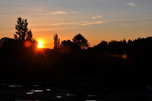 Sun rise over Haughley Suffolk
