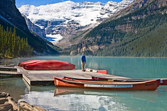 Sailing on Lake Louise