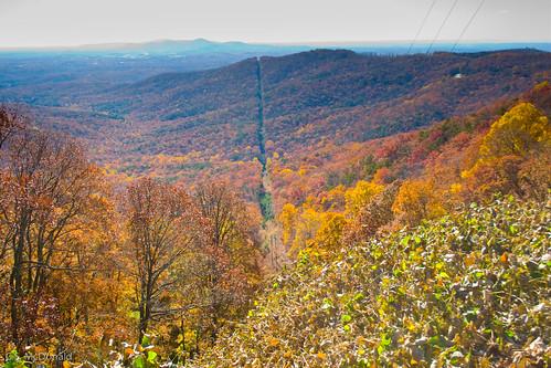 autumn mountains fall georgia motorcycle