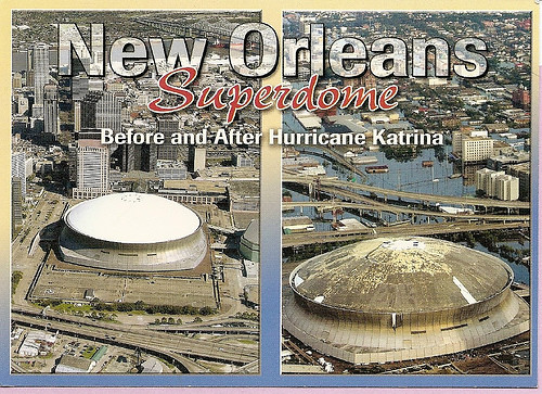Louisiana ~ New Orleans Superdome - Before and after ...