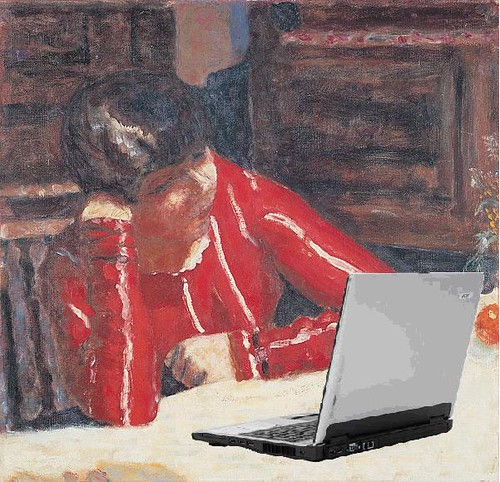 Blogger in a Red Blouse, after Pierre Bonnard