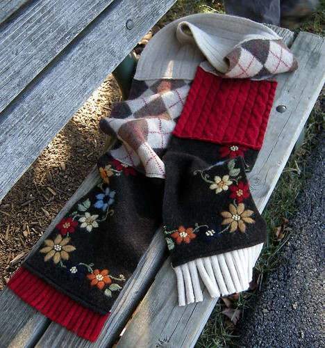 yummy red and brown scarf