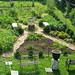 Overhead view of the potager.