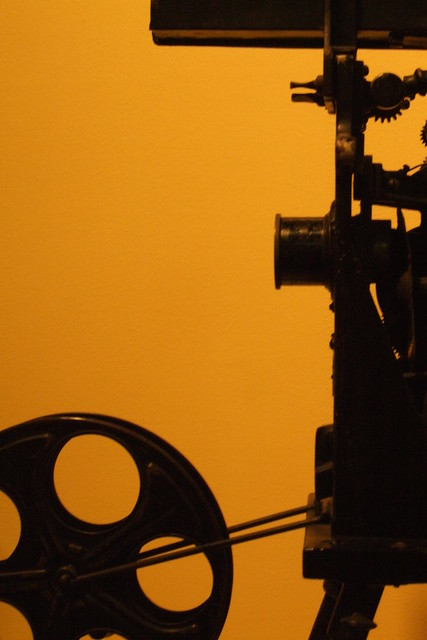 Projecting Kinetoscope Flickr Photo Sharing