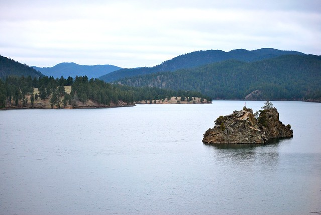Lake pactola at sundown flickr photo sharing for Pactola lake cabins