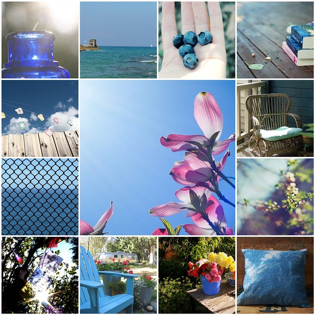 summer blues, Flickr mosaic curated by Emma Lamb