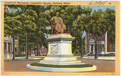 Longfellow Monument, Longfellow Square, Portland, Maine
