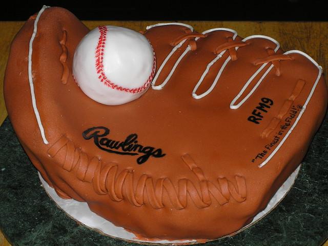 Baseball Glove Cake Pops