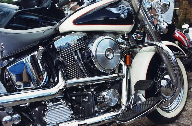 Harley Davidson Heritage Softail Motorcycle Engine, Elsecar Heritage Centre