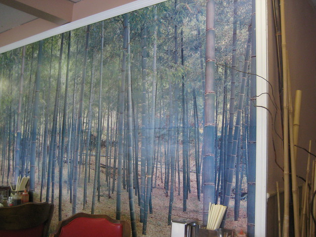 Bamboo wall paper or painting bamboo leaf like mural for Bamboo wall mural