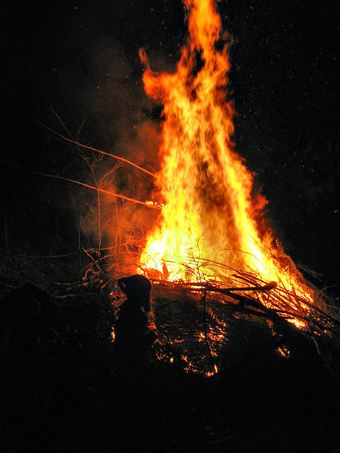 Backyard Bonfire Safety : Bonfire at Brierfield 4  Postsolstice bonfire at Steves p