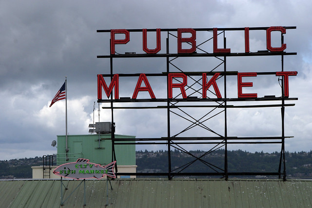 Pike Place Market - Seattle, Washington U.S.A. - July 30, 2008