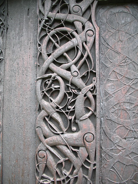 Urnes stave church carvings | Flickr - Photo Sharing!
