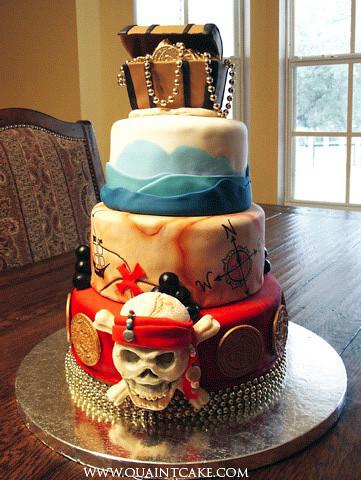 Фото свадебные торты с пиратами