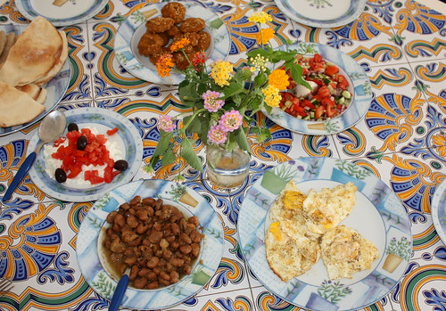 Egyptian Breakfast Table