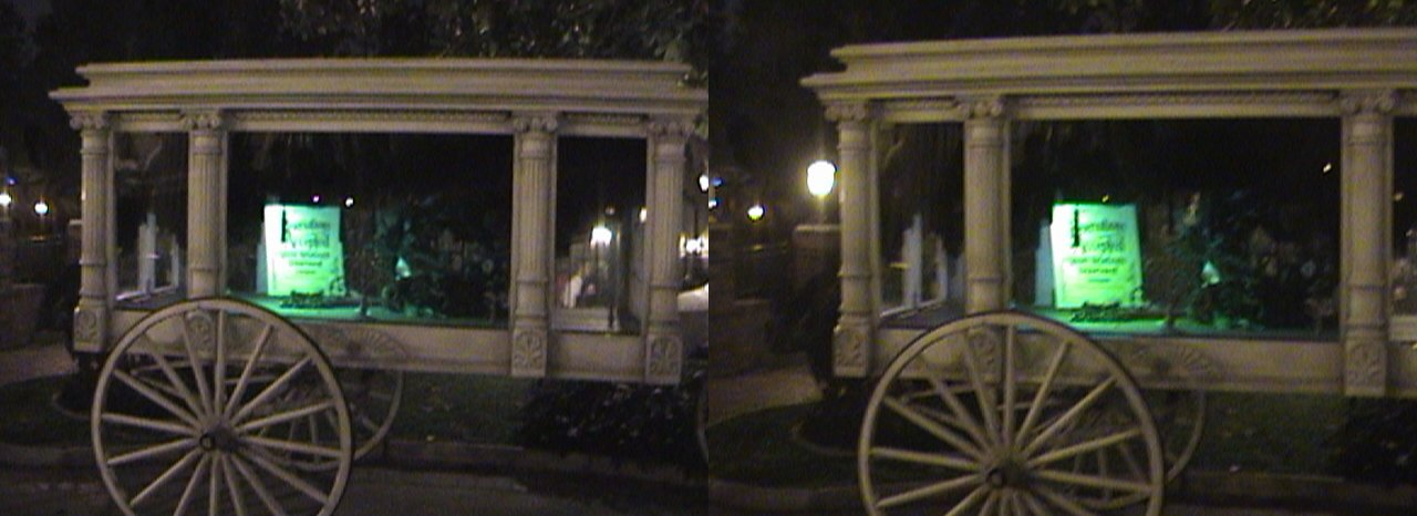 3D, Haunted Hearse Horse, Entrance, Foyer, Haunted Mansion, New Orleans Square, Disneyland®, Anaheim, California, 2008.08.08 21:53