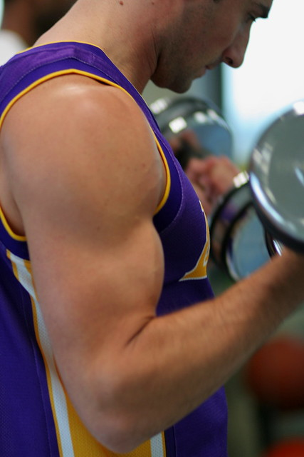 Less acceleration of movement during bicep curls will protect your elbows and make for a better workout.