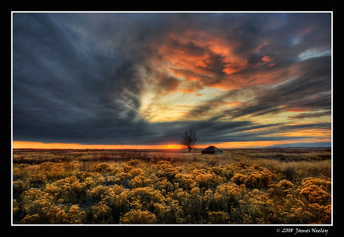 sunset landscape idaho hdr camas 5xp jamesneeley camasnationalwildliferefuge