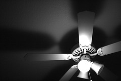 light fixture, white, light, ceiling fan, ceiling, monochrome photography, mechanical fan, still life photography, monochrome, darkness, black-and-white, lighting, black,