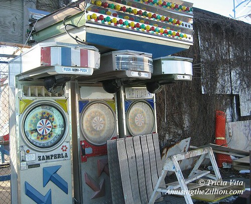 Abandoned old arcade machines