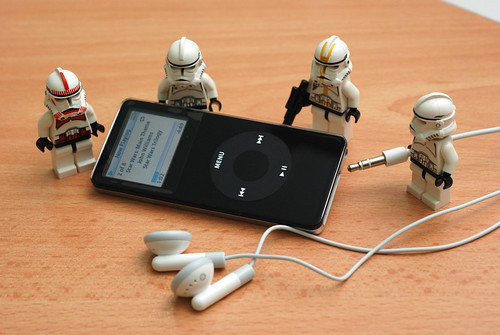 "Storm Troopers listening to the ""Main Theme"" song"