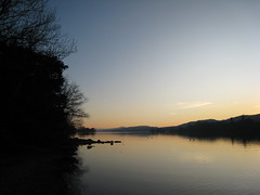 Coniston Water at sunset