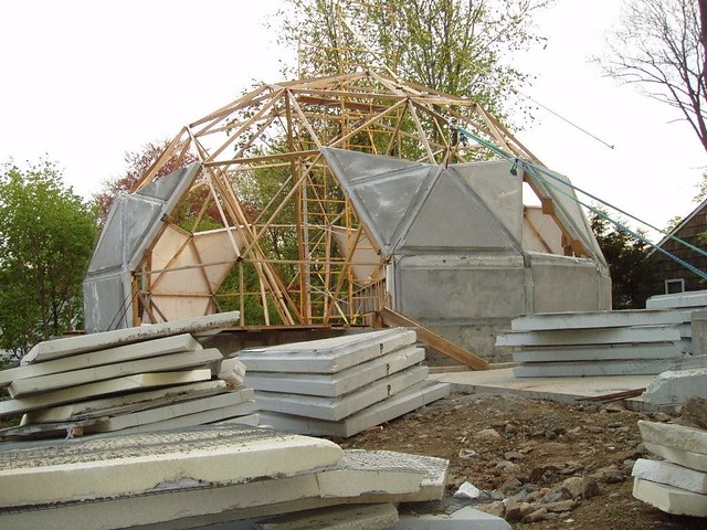 Norwalk ct geodesic dome house 5 8 2008 flickr photo for Inground pool greenhouse