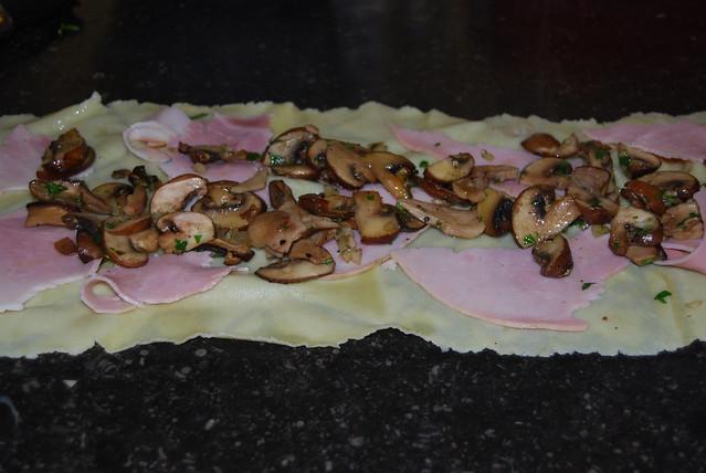 Pastarol met ham en champignons...