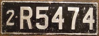 AUSTRALIA, TASMANIA 1952 Passenger license plate