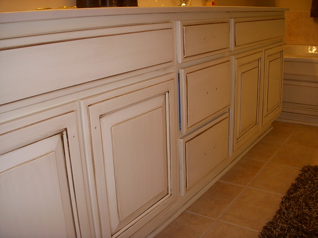 Cream cabinets with chocolate glaze flickr photo sharing for Cocoa glaze cabinets