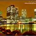 London Docklands Night ; Unchained Lights by david gutierrez [ www.davidgutierrez.co.uk ]