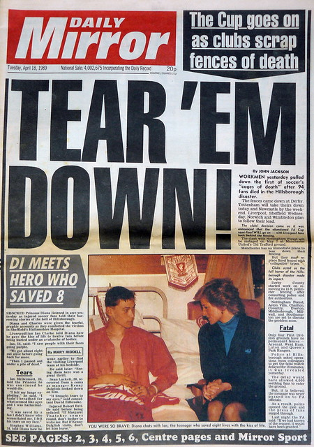 headlines after the hillsborough disaster 1989 flickr