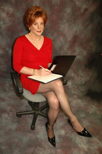 Red Secretary Sitting by Amanda_Green