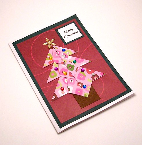 Paper Christmas Tree 2 Photos | Origami Christmas Tree Card | 062