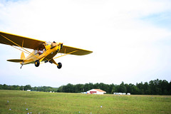 A Cub taking off from Barber Airport