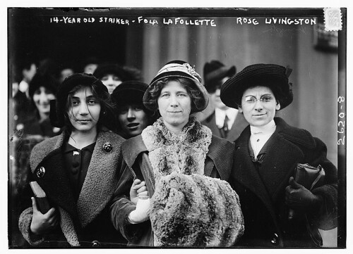 14-yr. old striker, Fola La Follette, and Rose Livingston  (LOC)