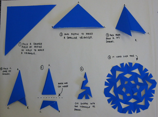 How to make a paper snowflake flickr photo sharing for How to make a real paper snowflake
