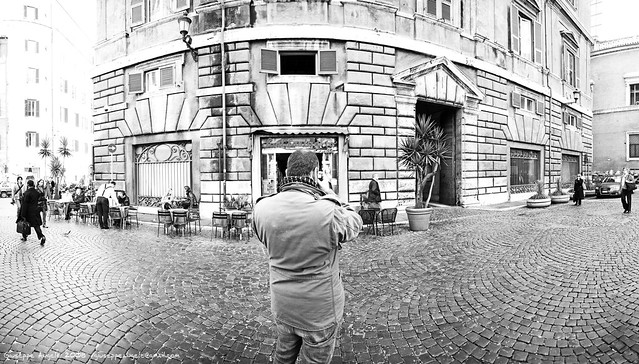 Asilipo With His Leica (4 Vertical Shots Stiched)